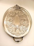 Oval silver-plated 