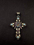Silver cross with 